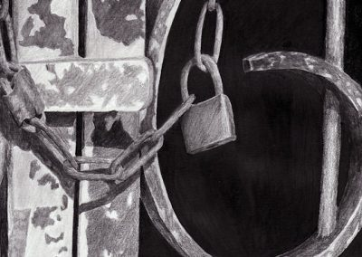 gate lock graphite sketch Kathrin Guenther web file